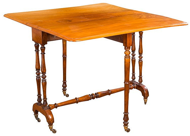 A DROP-LEAF TABLE, 19TH CENTURY