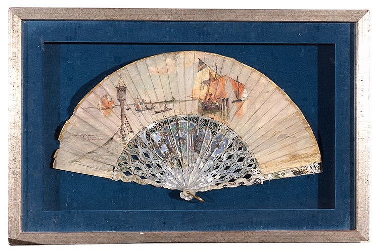 A HAND FAN, BY JOSÉMORENO CARBONERO