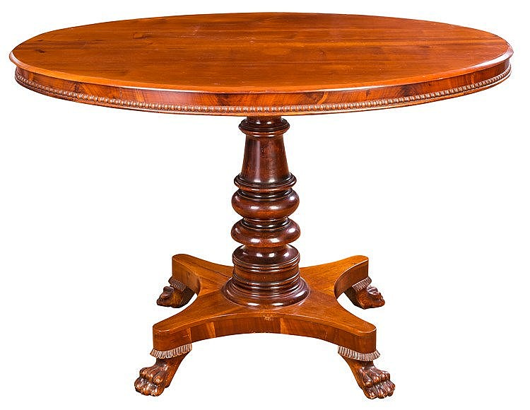 AN ENGLISH PEDESTAL TABLE, FIRST THIRD 19TH CENTURY