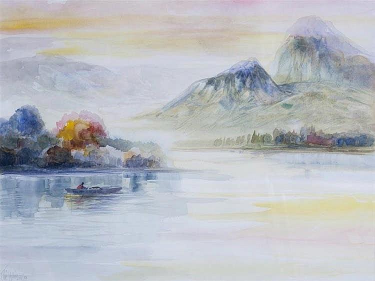 JOSE MARQUEZ ALCALÁ - MOUNTAIN LANDSCAPE II