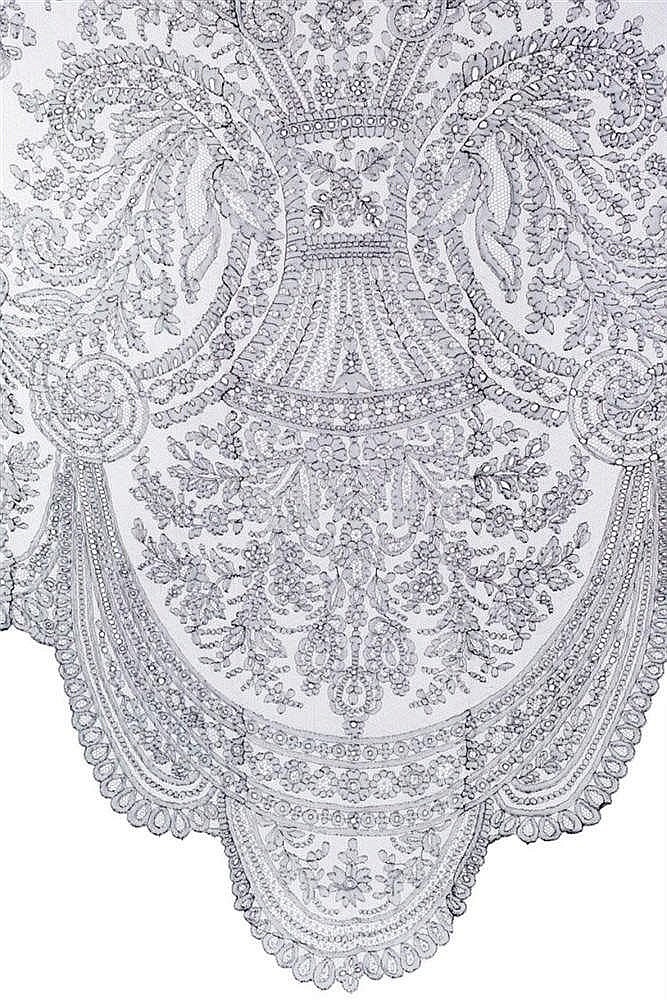 A SILK MANTILLA, 19TH CENTURY