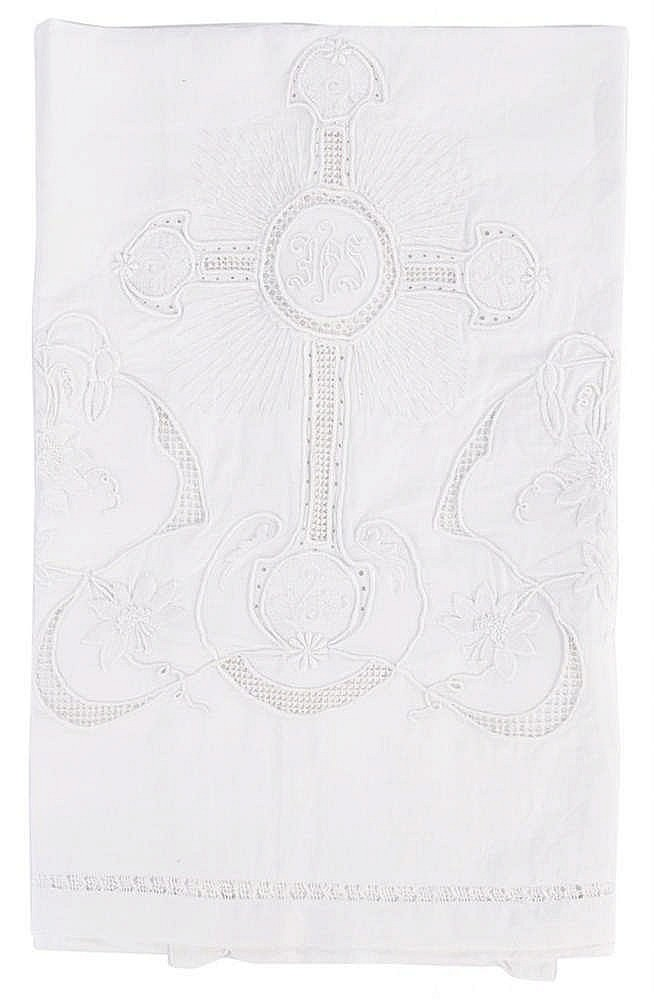 AN ANTIQUE ALTAR CLOTH