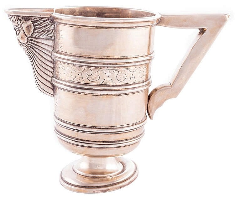 A SILVER JUG, LATE 19TH/EARLY 20TH CENTURY