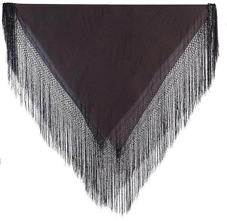 A BLACK SHAWL, 20TH CENTURY