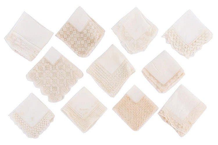 A SET OF handkerchiefs