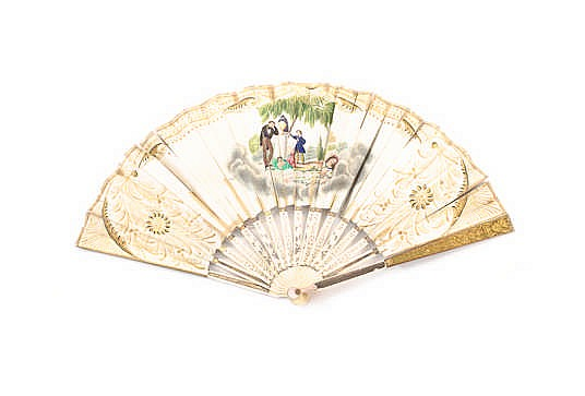 A SPANISH HAND FAN, SECOND HALF 20TH CENTURY