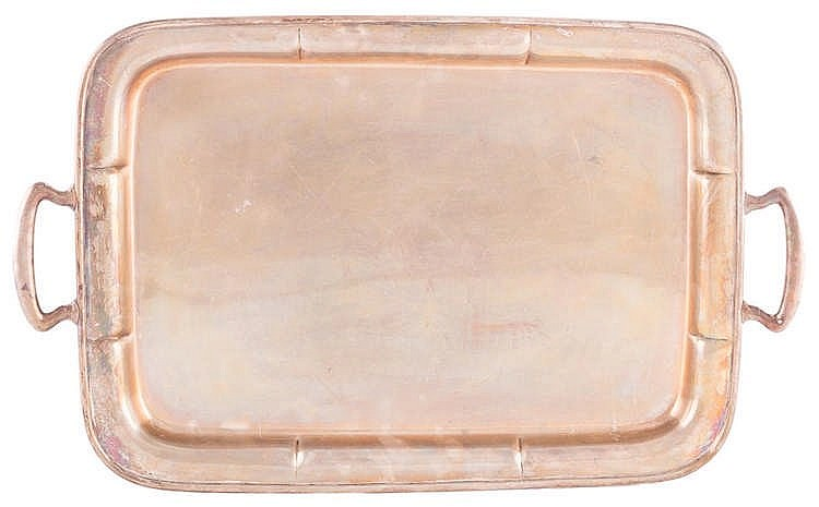 A CHINESE SILVER TRAY, 19TH CENTURY