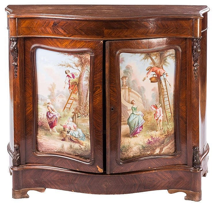 A CABINET, LATE 19TH CENTURY