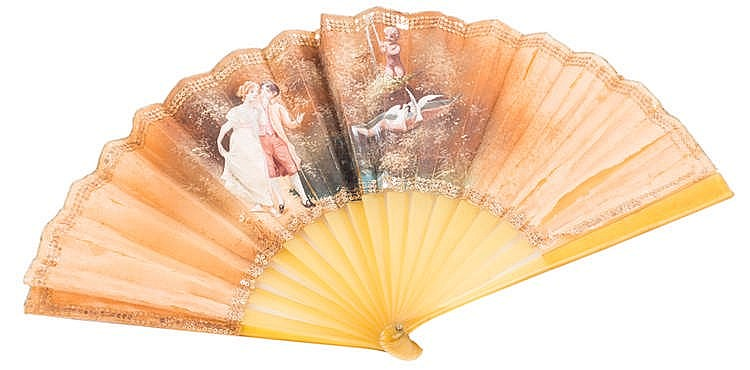 A HAND FAN, EARLY 20TH CENTURY