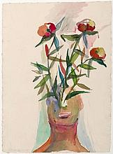 ALOIS MOSBACHER - HEAD AND FLOWERS