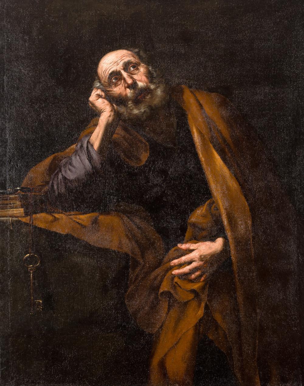 San Pedro meditando