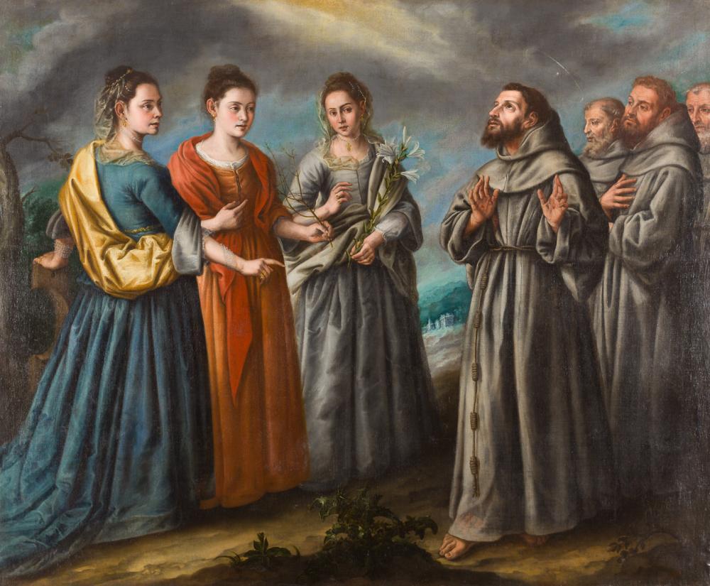 San Francisco y las tres santas