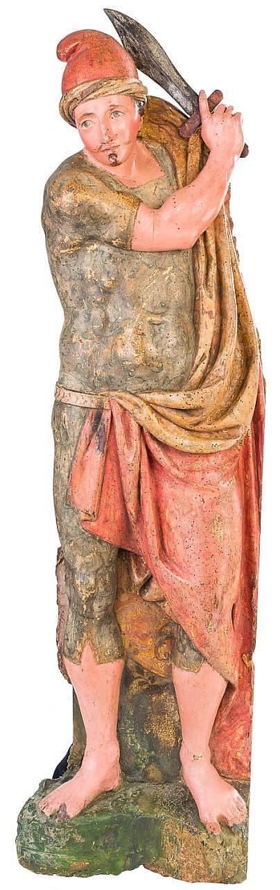 CIRCLE OF JUAN DE ANCHIETA (Azpeitia, c. 1532 – Pamplona, 1588). A polychrome carved wood figure