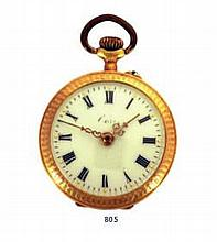 A GOLD POCKET WATCH