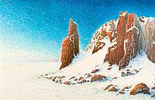 WLADIMIR GOICHMAN «The Polar Castle». Oil on fiberboard
