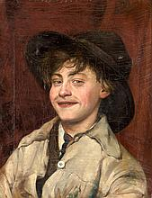 SCHOOL OF MALAGA «A Portrait of a Young Man». Oil on canvas