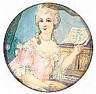 FRENCH SCHOOL «A Portrait of a Lady». Watercolor on ivory