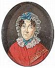 ENGLISH SCHOOL «A Portrait of a Lady». Watercolor on ivory