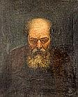 AFTER DUTCH 19TH CENTURY ARTISTS «Head of a Saint». Oil on canvas