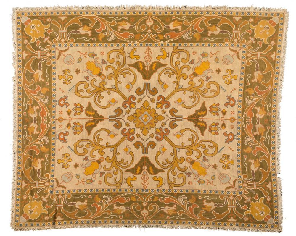 Alfombra de arraiolos portugal con bordados en lana sobre - Alfombras portugal ...