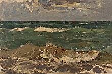 ANDRÉS LARRAGA MONTANER (Valtierra, 1860, Navarra, 1931), Seascape - ANDRÉS LARRAGA MONTANER 1860 Valtierra, Navarra - 1931 Marina