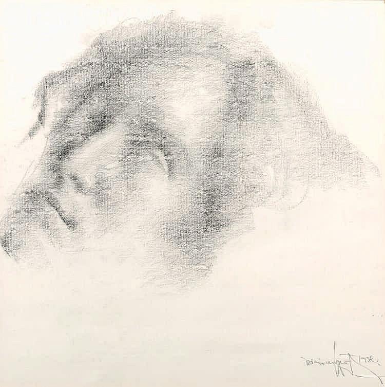 FRANCISCO CORTIJO (Seville, 1936- 1996), A portrait of Lola - FRANCISCO CORTIJO  1936 Sevilla - 1996 Retrato de Lola