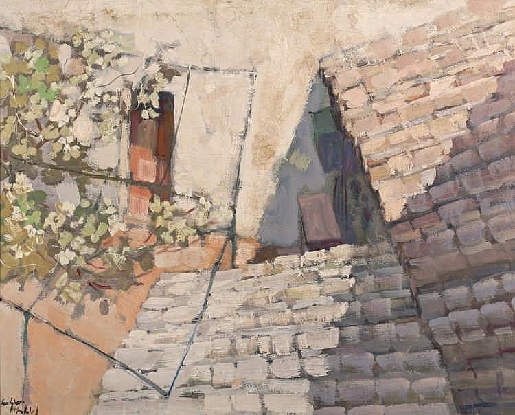 JUAN  GUTIERREZ MONTIEL (Jerez, 1934 - 2008), Tejado  - JUAN  GUTIERREZ MONTIEL  1934 Jerez - 2008 Tejado