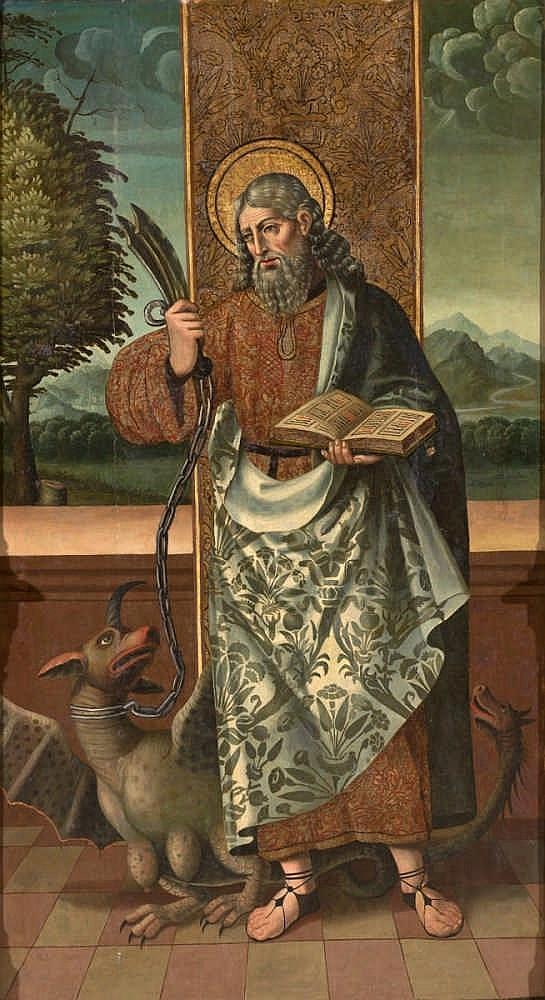 ANTONIO VÁZQUEZ (c. 1485 – c. 1563), San Bartolomé - ANTONIO VÁZQUEZ (h. 1485 – 1563 o posterior)     San Bartolomé