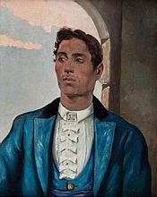 SALVADOR VINIEGRA Y LASSO DE LA VEGA (Cádiz, 1862 - 1915), Retrato del Chiclanero - SALVADOR VINIEGRA Y LASSO DE LA VEGA 1862 Cádiz - 1915 Retrato del Chiclanero