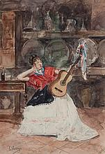 ANDALUSIAN WOMAN WITH GUITAR