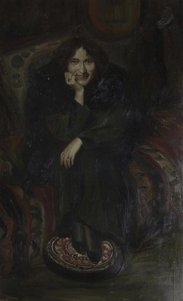 LADY SITTING WITH SHAWL