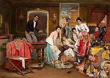 SALVADOR VINIEGRA Y LASSO 1862 Cádiz - 1915Madrid Escena de sastrería de toreros