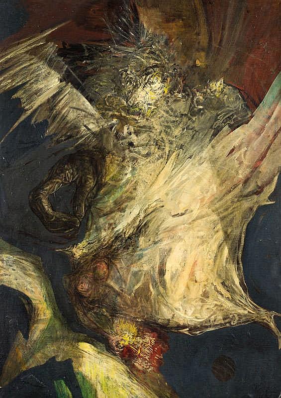 JOSÉ MÁRQUEZ ALCALÁ, Bailaora onírica. Oil on canvas