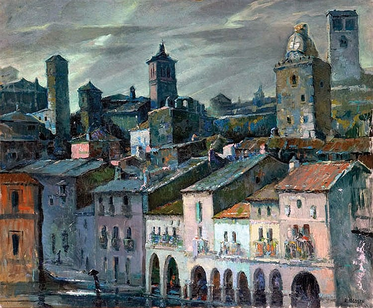 EDUARDO ACOSTA, Vista de Trujillo. Oil on canvas