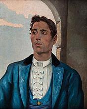 SALVADOR VINIEGRA Y LASSO DE LA VEGA, Retrato del Chiclanero. Oil on canvas