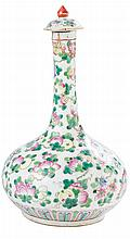 INDIA COMPANY PORCELAIN BOTTLE VASE AND COVER