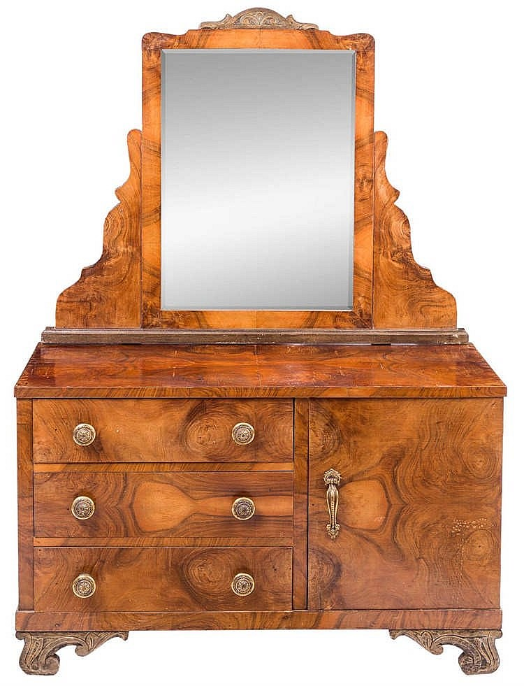 an art deco rootwood dressing table. Black Bedroom Furniture Sets. Home Design Ideas