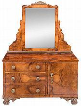 Tocador Art Decó en madera de raíz. H.1940