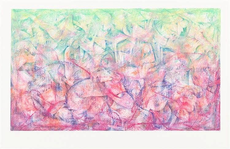 ELADIO  GONZÁLEZ, Abstraction. Waxes on paper