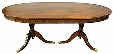AN ENGLISH STYLE MAHOGANY DINING SUITE