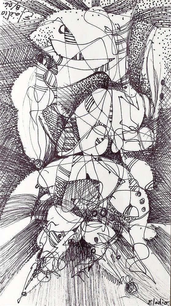 ELADIO GONZÁLEZ , Arlequín. Ink on paper
