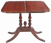 AN ENGLISH STYLE MAHOGANY TABLE