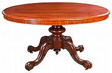 A VICTORIAN MAHOGANY TILT-TOP TABLE