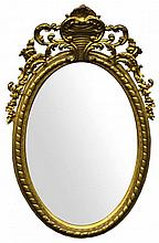 AN ISABELLA II OF SPAIN CARVED GILTWOOD MIRROR
