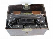 Bakelite field telephone