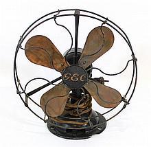 Metal and copper fan