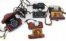 Lot of five cameras