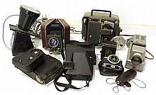 Lot of cameras, projectors and movie cameras