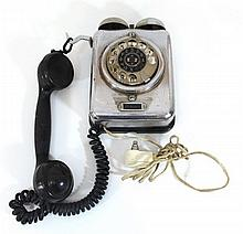 Bakelite and metal telephone