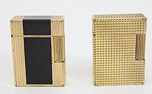Lot of two gilded DuPont lighters